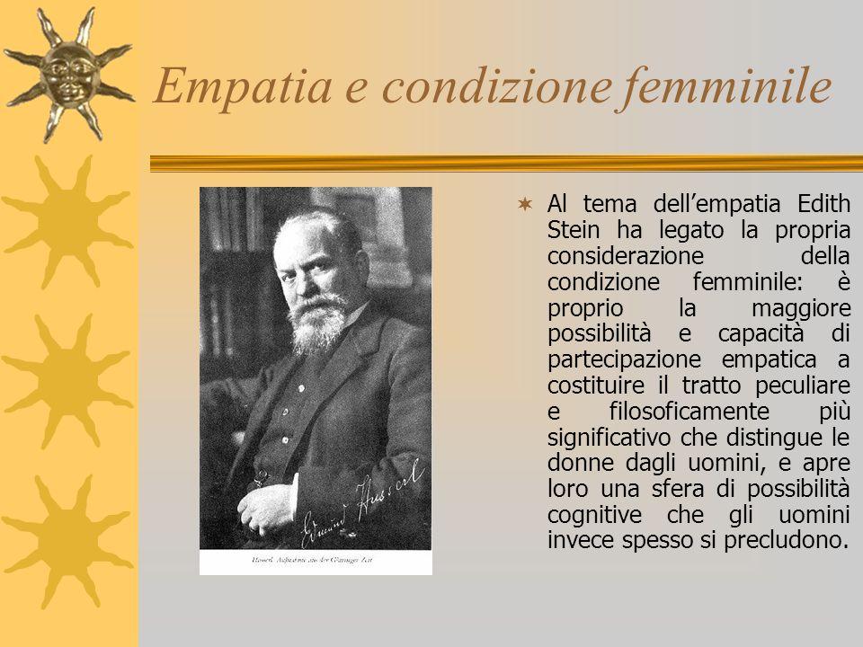 Empatia e condizione femminile
