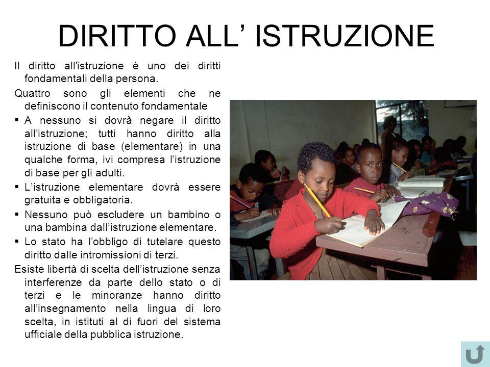 DIRITTO ALL' ISTRUZIONE