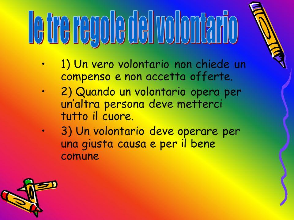 le tre regole del volontario