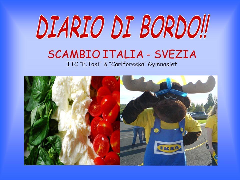 SCAMBIO ITALIA - SVEZIA ITC E.Tosi & Carlforsska Gymnasiet