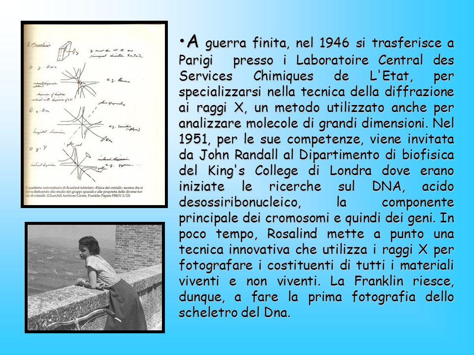 A guerra finita, nel 1946 si trasferisce a Parigi presso i Laboratoire Central des Services Chimiques de L Etat, per specializzarsi nella tecnica della diffrazione ai raggi X, un metodo utilizzato anche per analizzare molecole di grandi dimensioni.