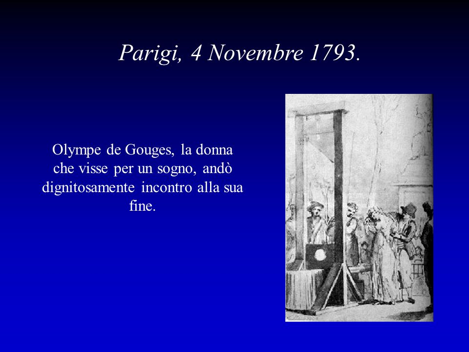 Parigi, 4 Novembre 1793.