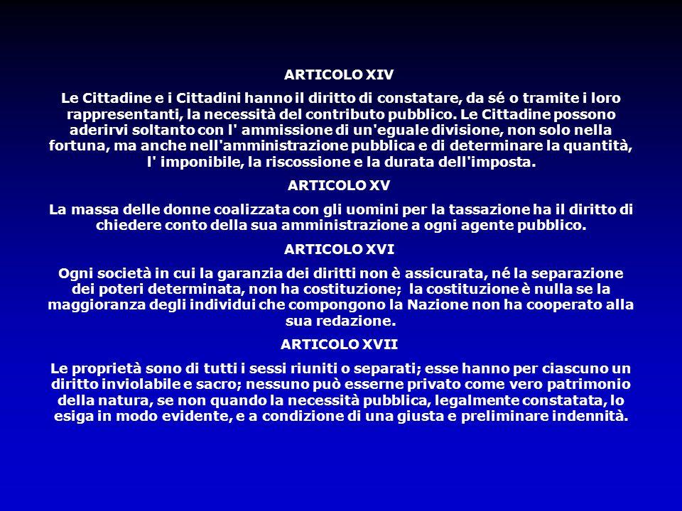 ARTICOLO XIV