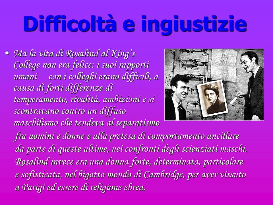 Difficoltà e ingiustizie