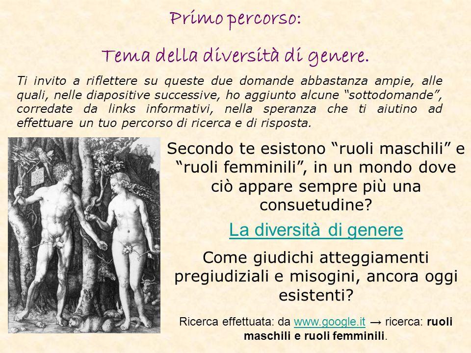 Tema della diversità di genere.