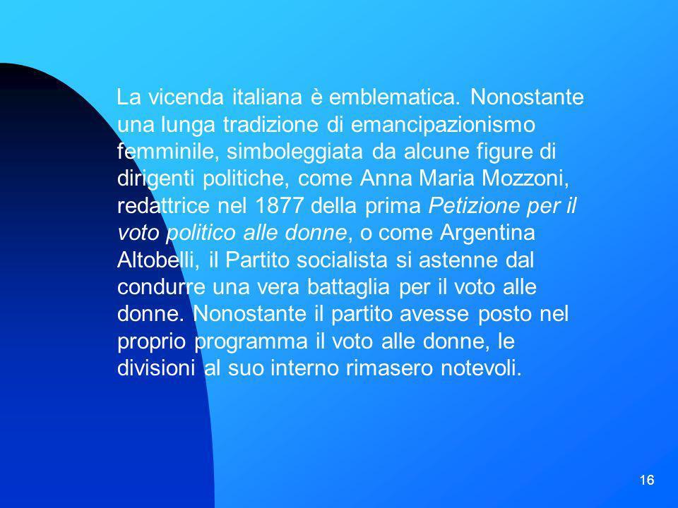 La vicenda italiana è emblematica