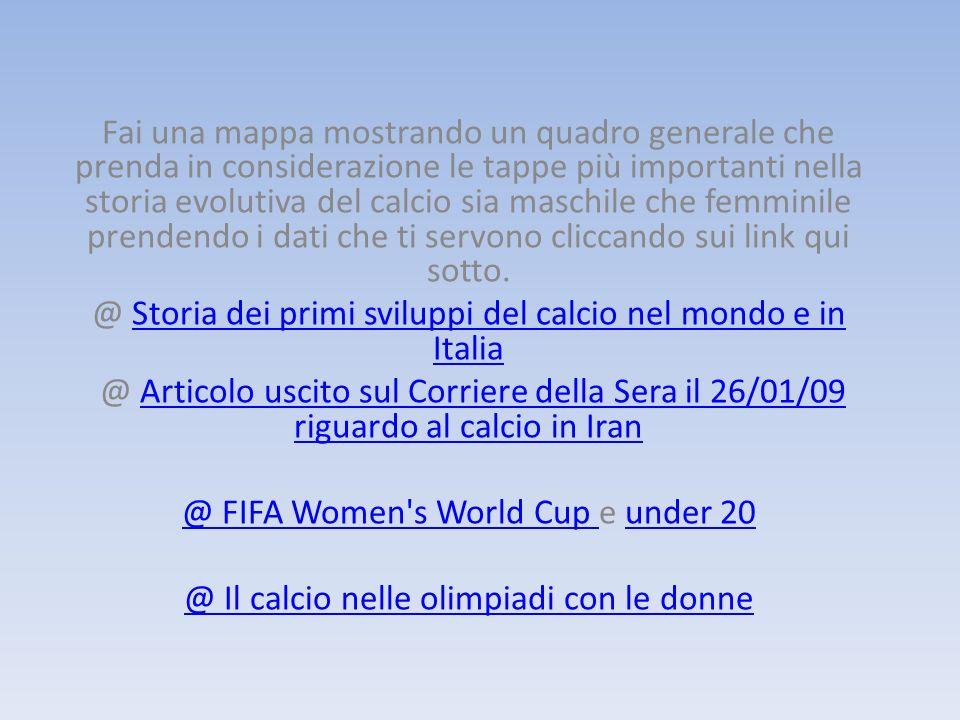 @ Storia dei primi sviluppi del calcio nel mondo e in Italia