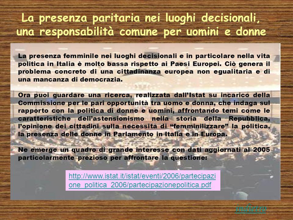 La presenza paritaria nei luoghi decisionali, una responsabilità comune per uomini e donne