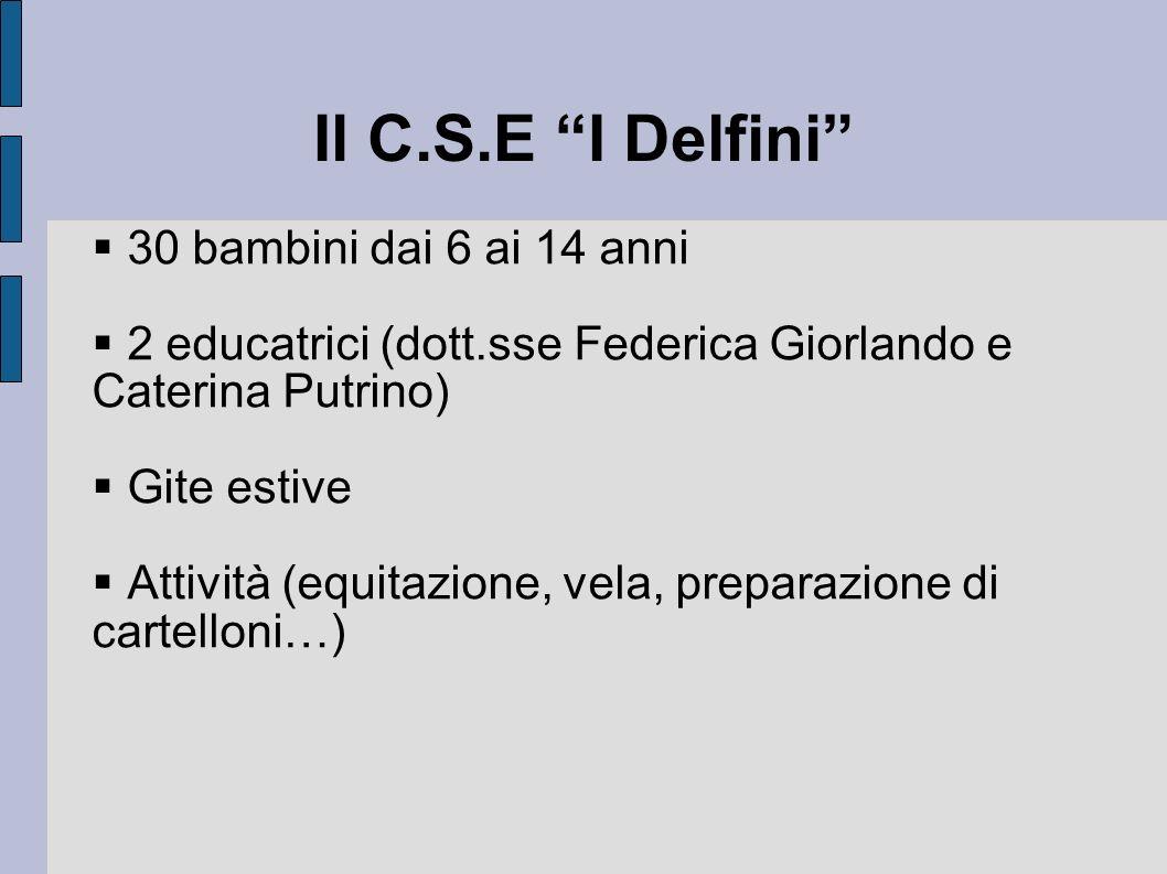 Il C.S.E I Delfini 30 bambini dai 6 ai 14 anni