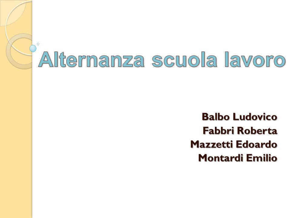 Balbo Ludovico Fabbri Roberta Mazzetti Edoardo Montardi Emilio