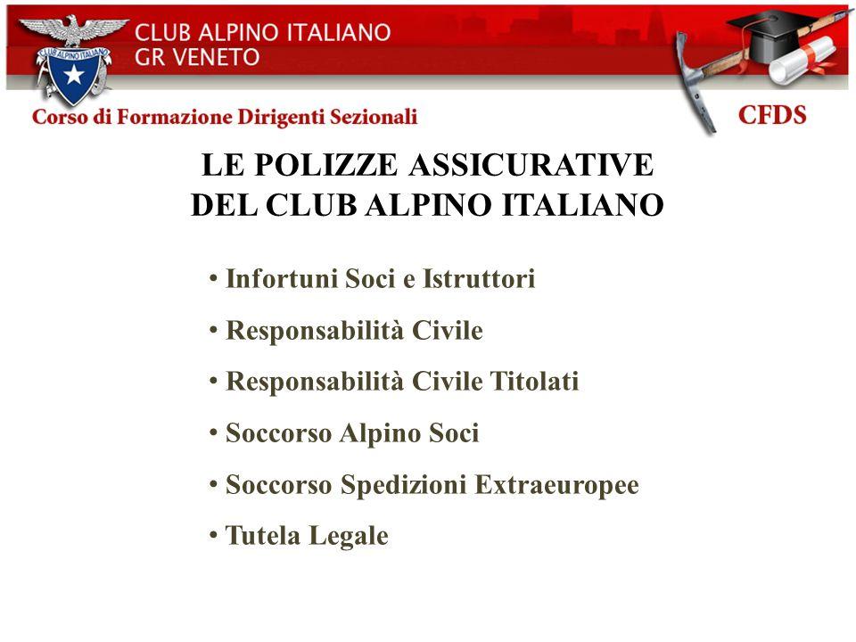 LE POLIZZE ASSICURATIVE DEL CLUB ALPINO ITALIANO