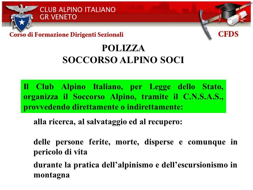 POLIZZA SOCCORSO ALPINO SOCI