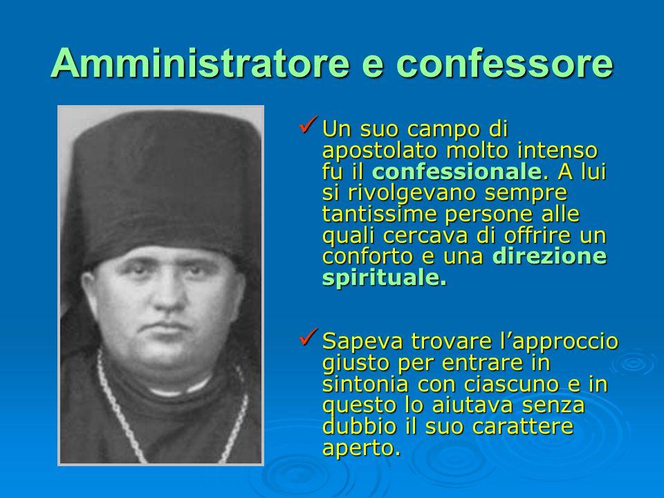 Amministratore e confessore