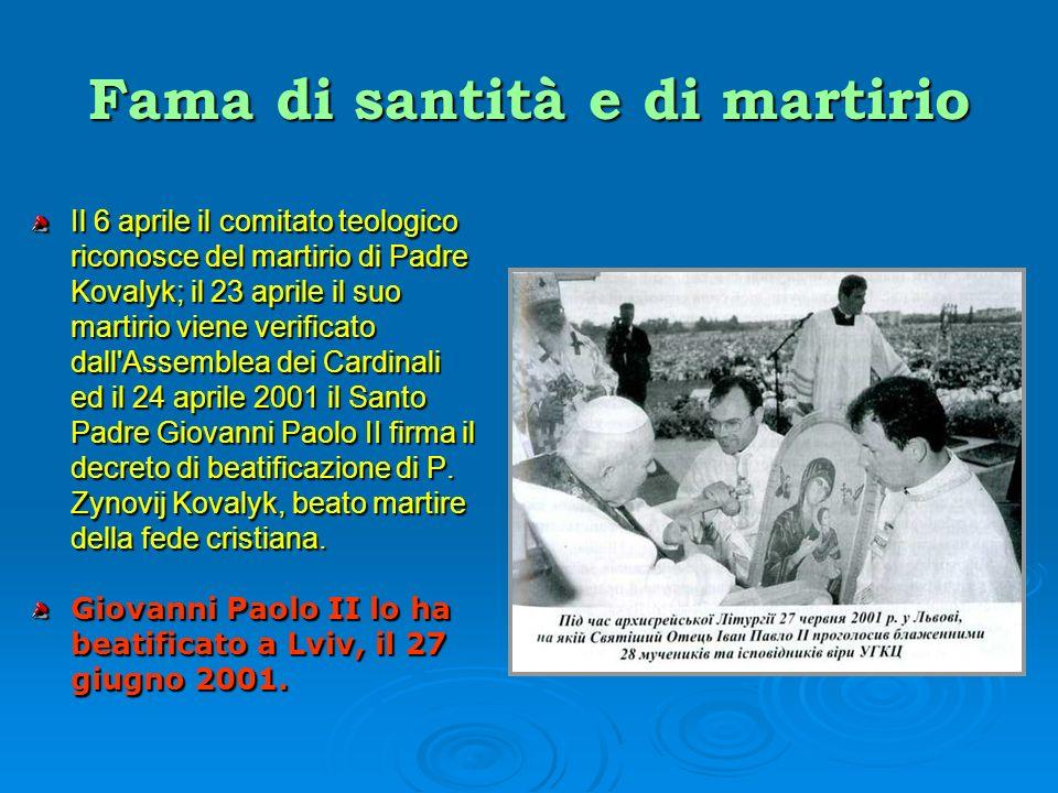 Fama di santità e di martirio