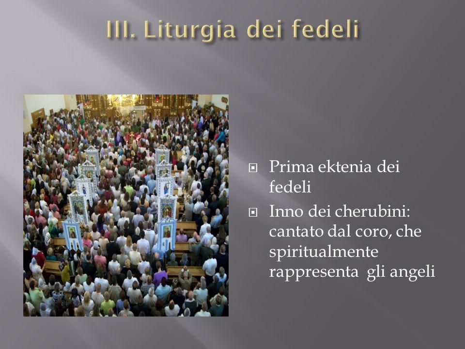 III. Liturgia dei fedeli