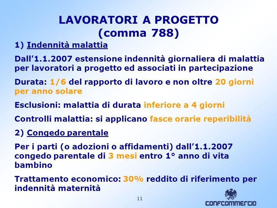 LAVORATORI A PROGETTO (comma 788)
