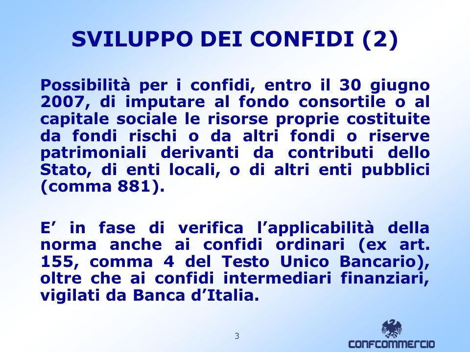 SVILUPPO DEI CONFIDI (2)