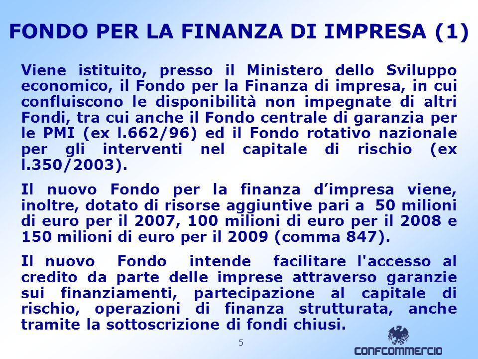 FONDO PER LA FINANZA DI IMPRESA (1)