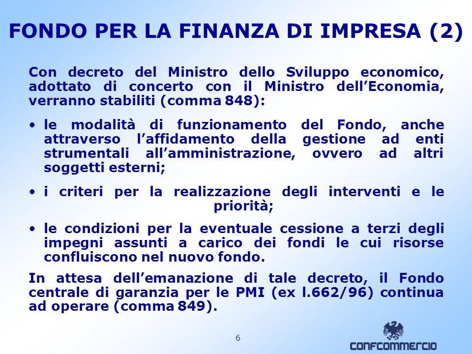 FONDO PER LA FINANZA DI IMPRESA (2)