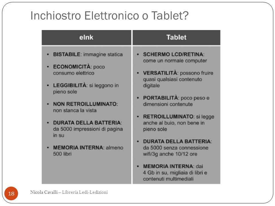 Inchiostro Elettronico o Tablet