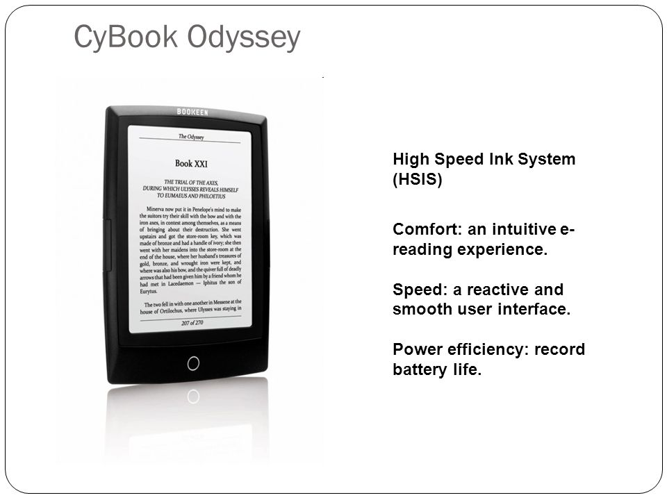CyBook Odyssey High Speed Ink System (HSIS)