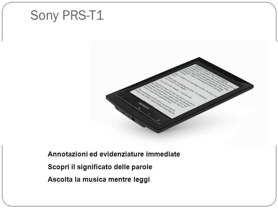 Sony PRS-T1 Annotazioni ed evidenziature immediate