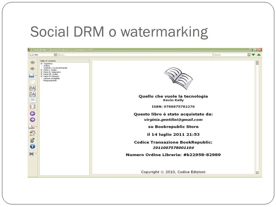 Social DRM o watermarking