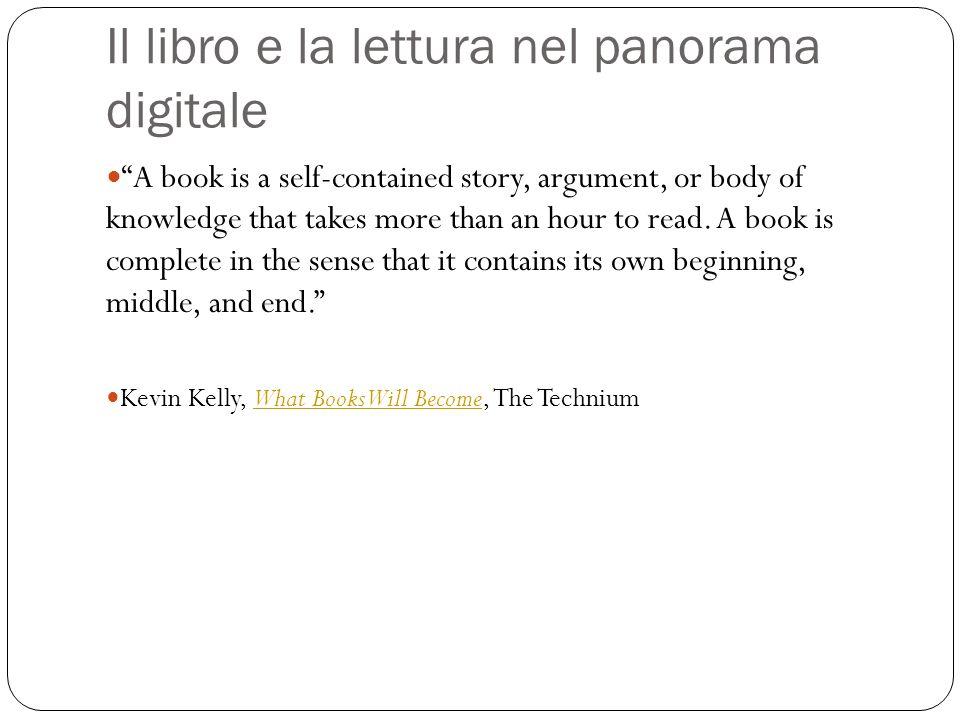 Il libro e la lettura nel panorama digitale