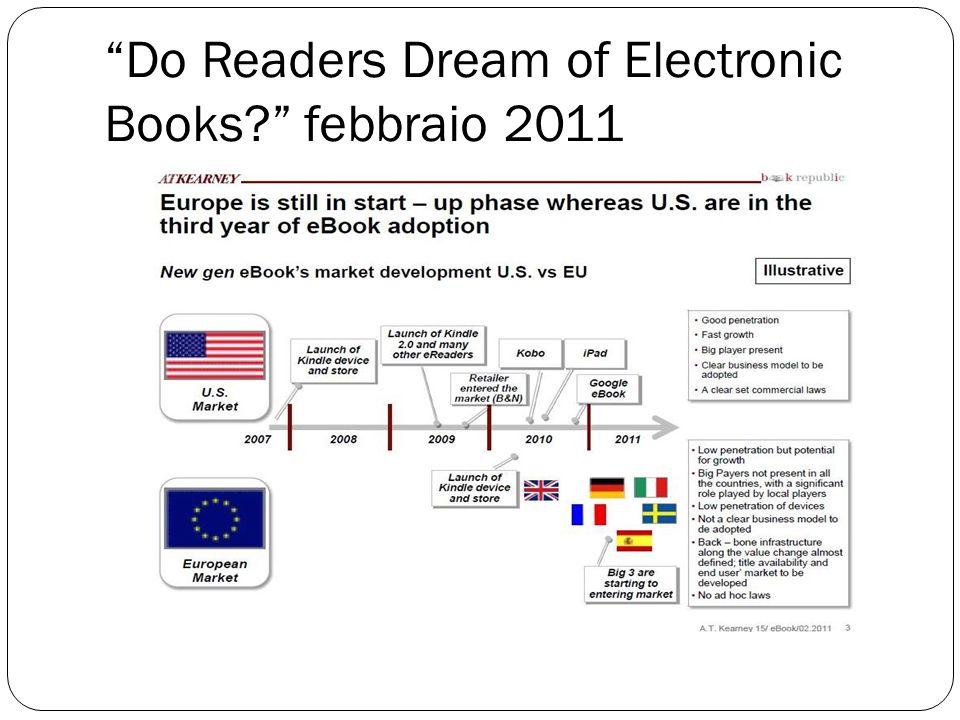 Do Readers Dream of Electronic Books febbraio 2011