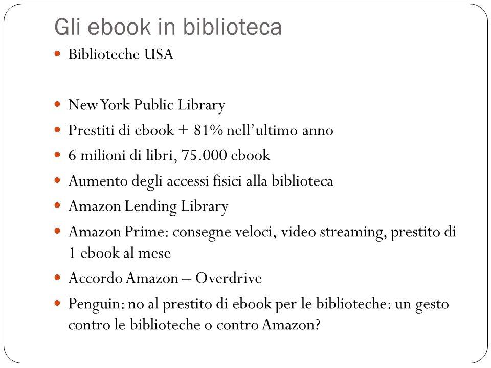 Gli ebook in biblioteca