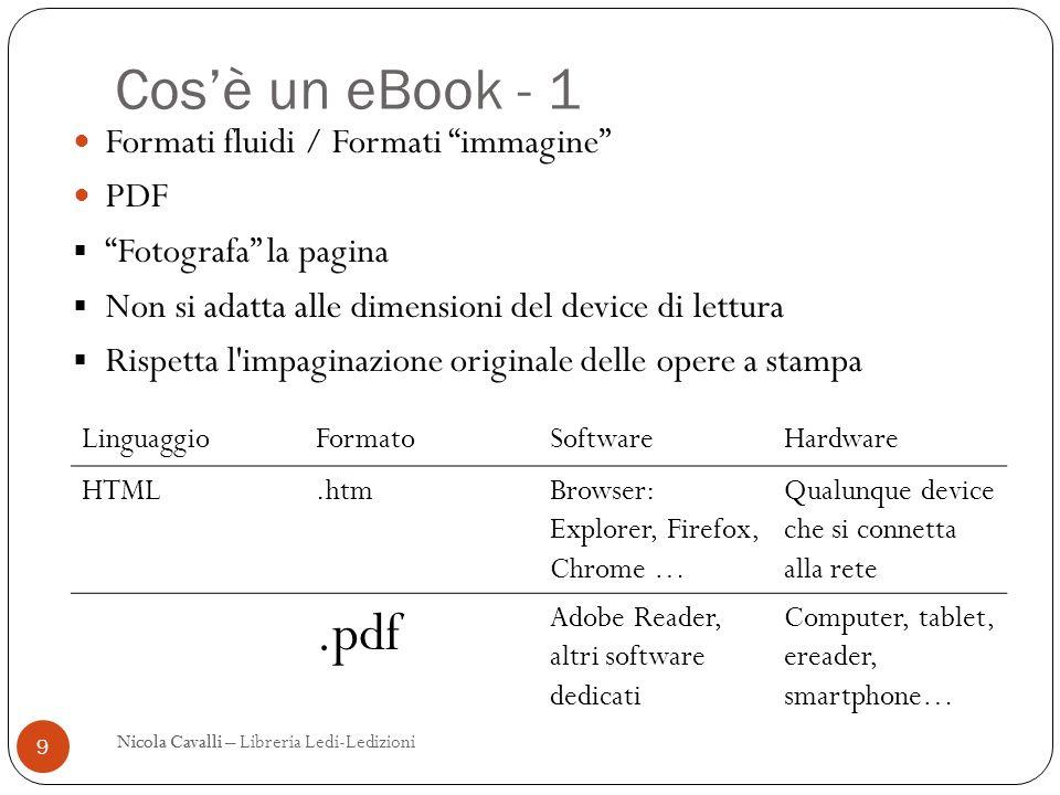 Cos'è un eBook - 1 .pdf Formati fluidi / Formati immagine PDF