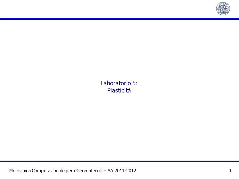 Laboratorio 5: Plasticità