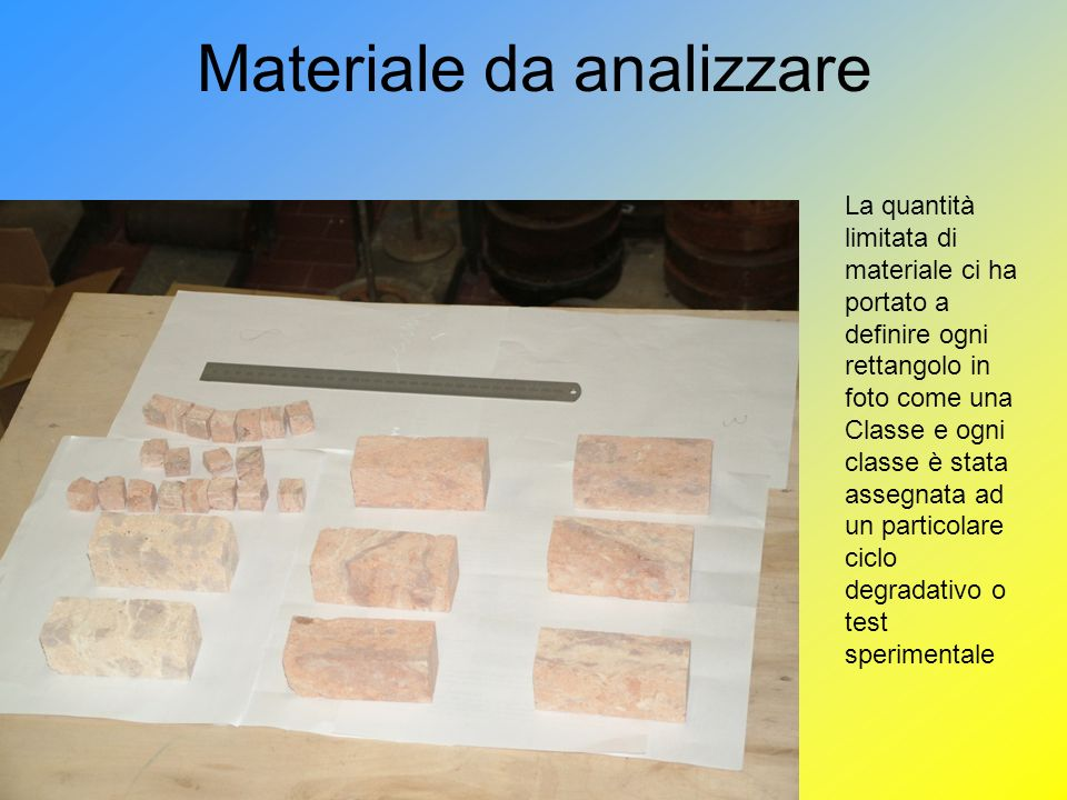 Materiale da analizzare