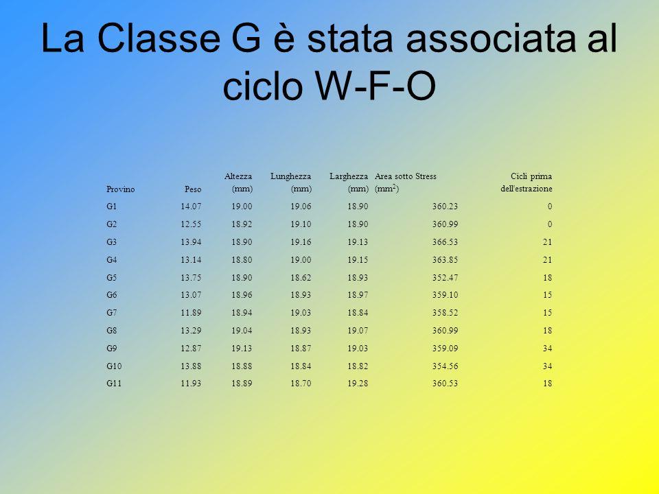 La Classe G è stata associata al ciclo W-F-O