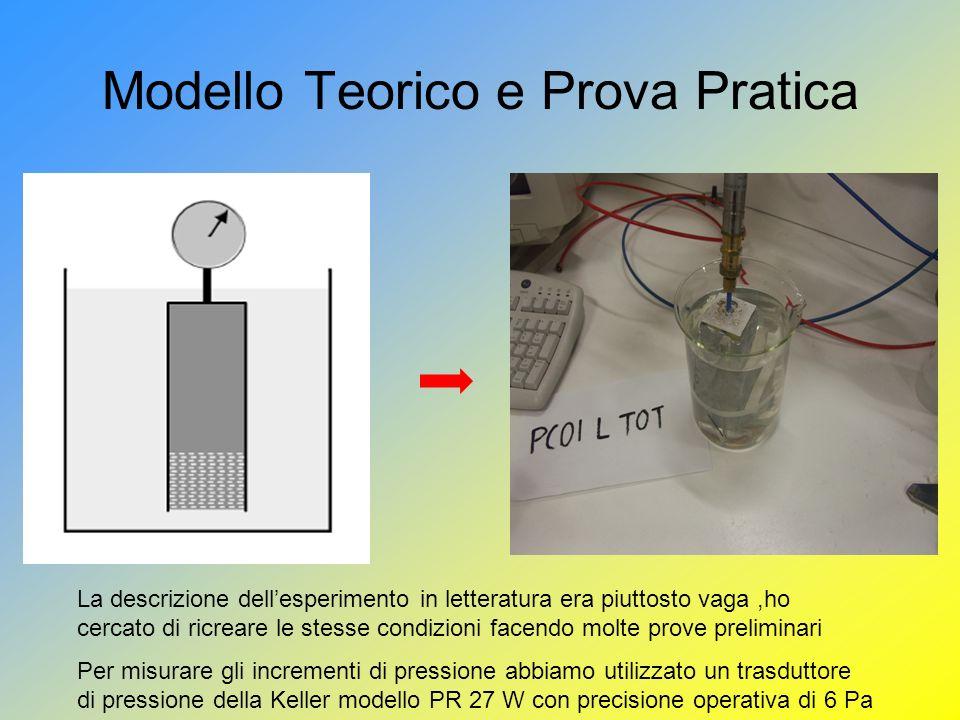 Modello Teorico e Prova Pratica