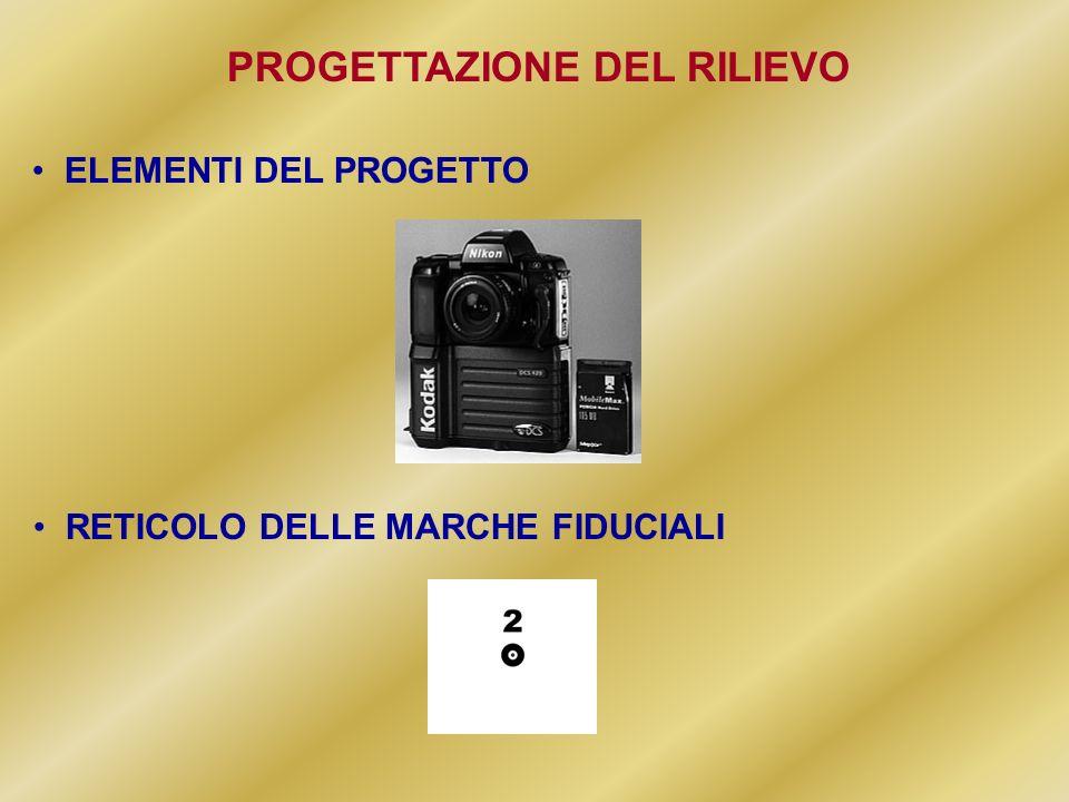 PROGETTAZIONE DEL RILIEVO RETICOLO DELLE MARCHE FIDUCIALI