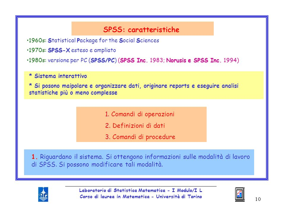SPSS: caratteristiche