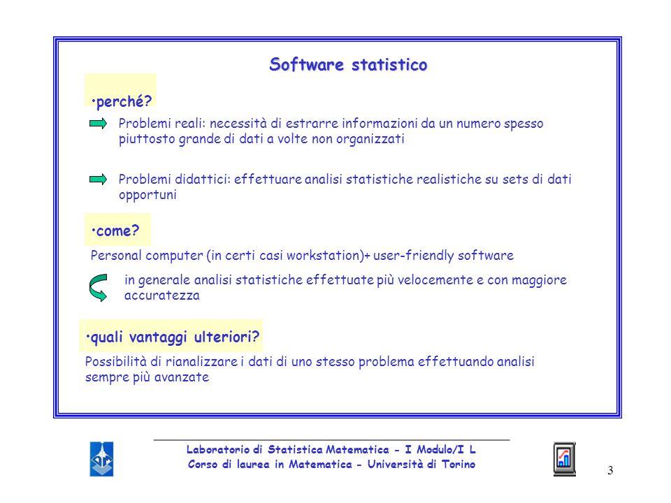 Software statistico perché come quali vantaggi ulteriori