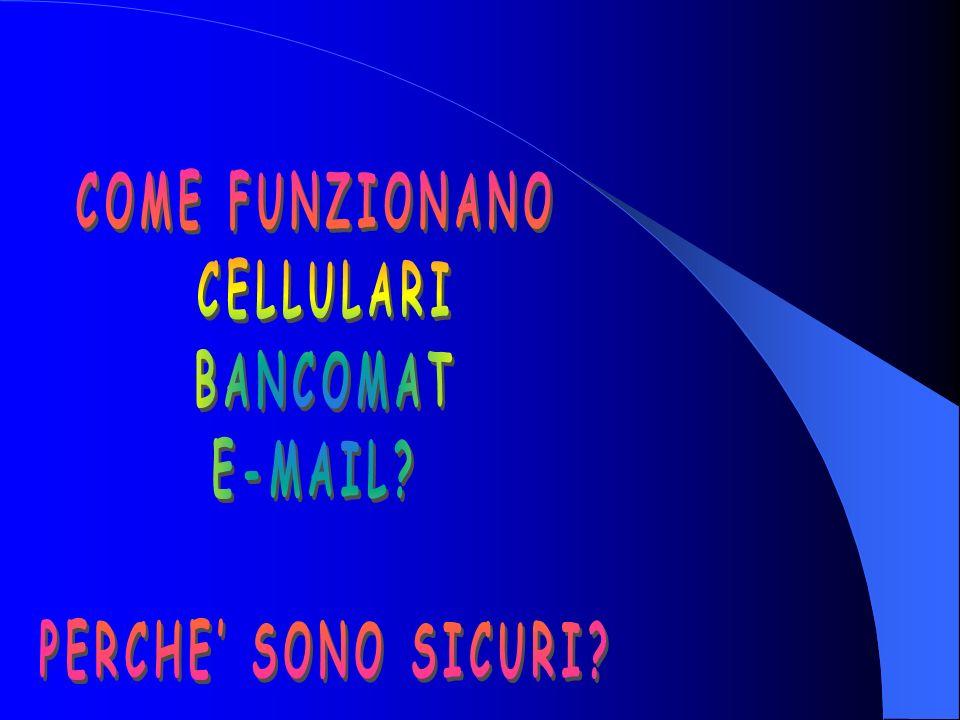 COME FUNZIONANO CELLULARI BANCOMAT E-MAIL PERCHE' SONO SICURI