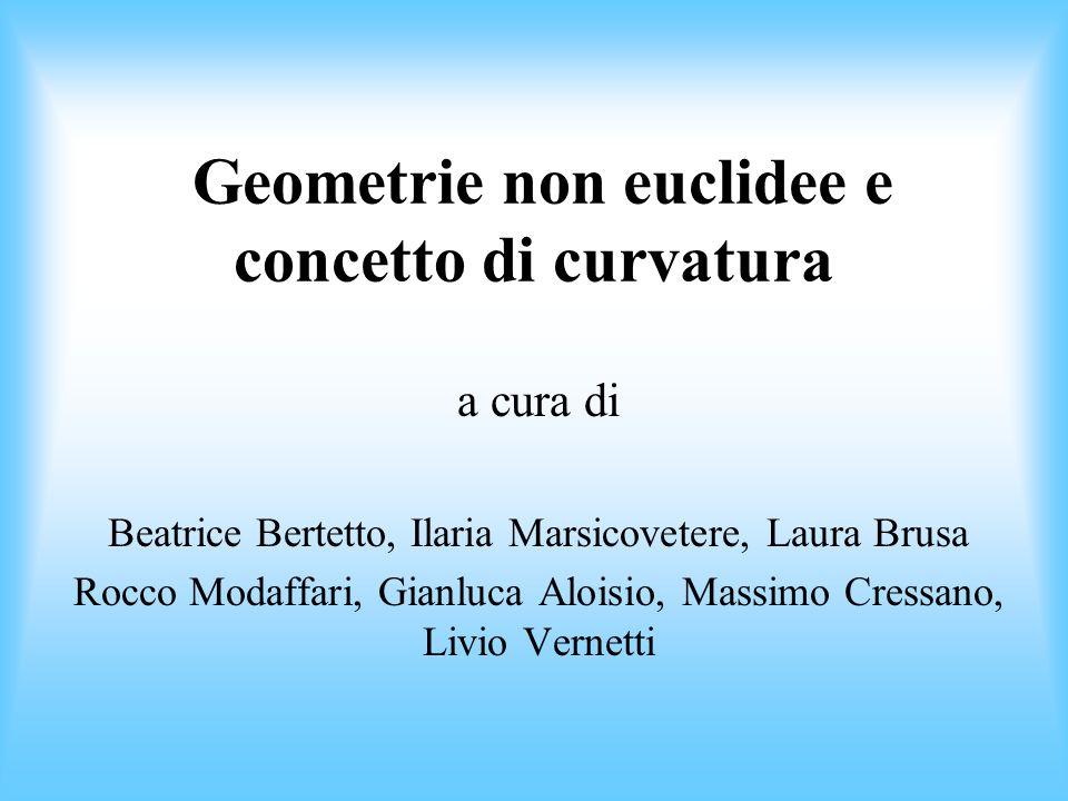 Geometrie non euclidee e concetto di curvatura