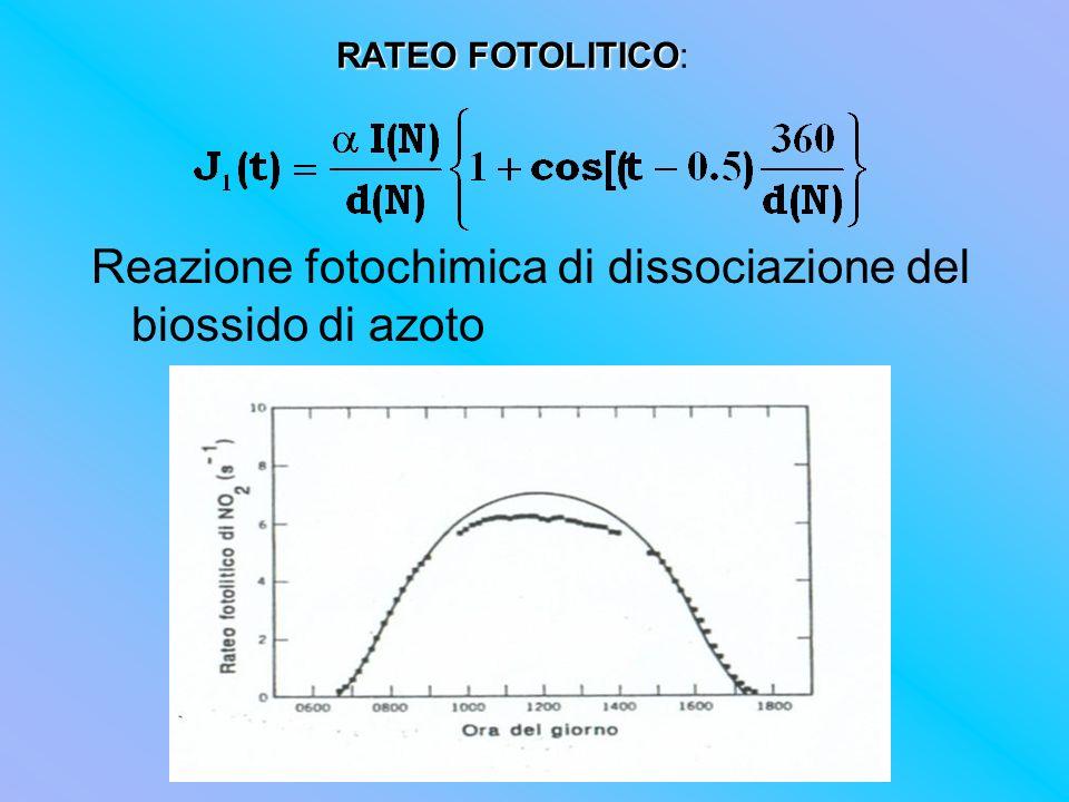 Reazione fotochimica di dissociazione del biossido di azoto