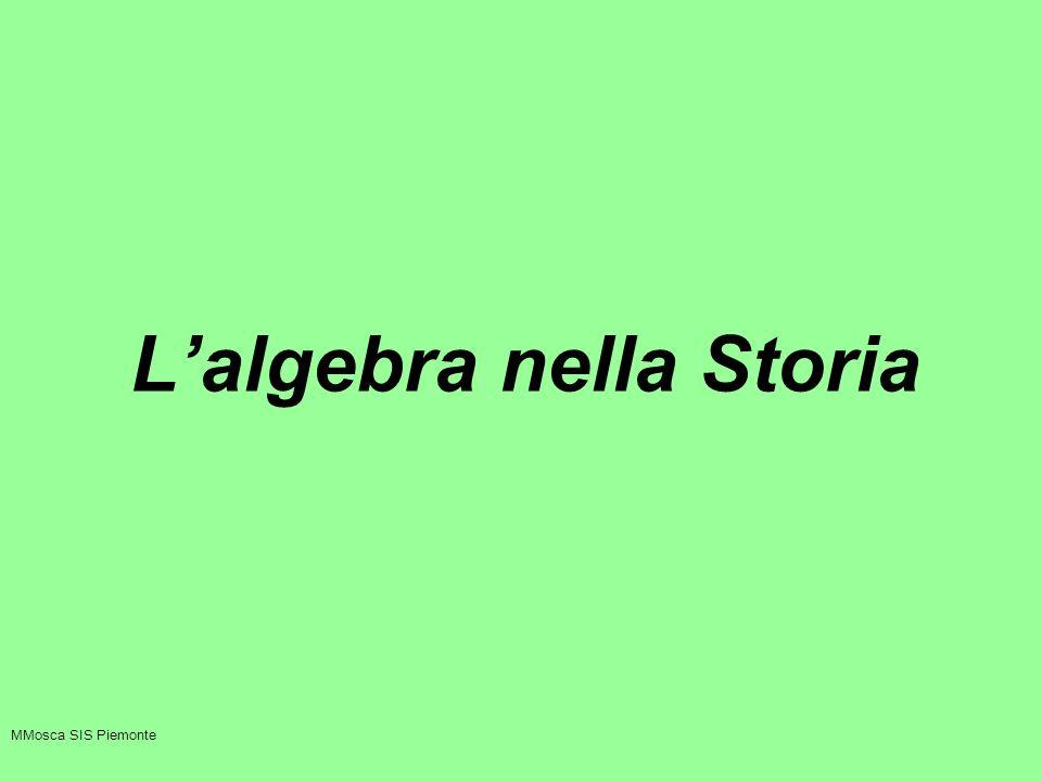 L'algebra nella Storia