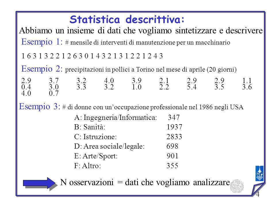 Statistica descrittiva: