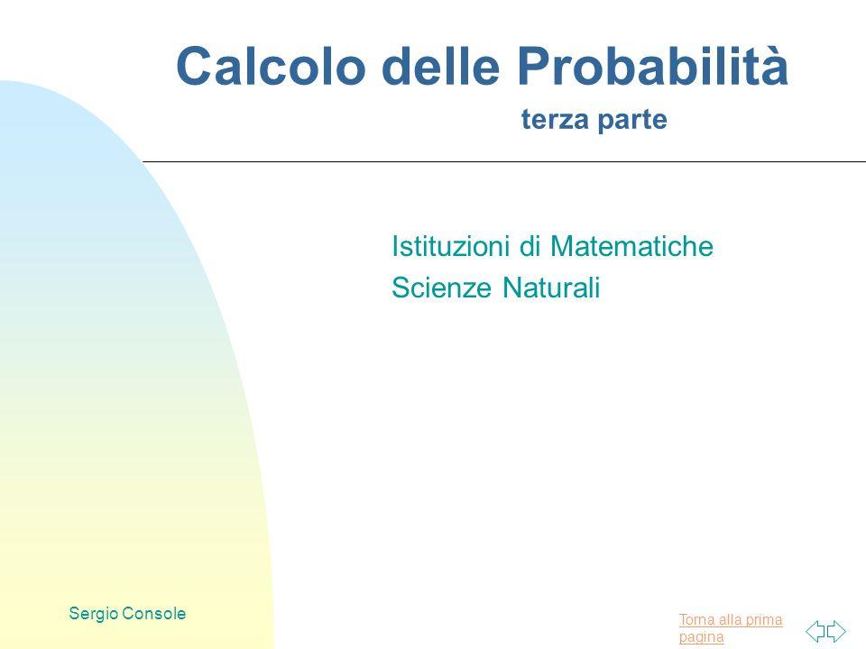 Calcolo delle Probabilità terza parte