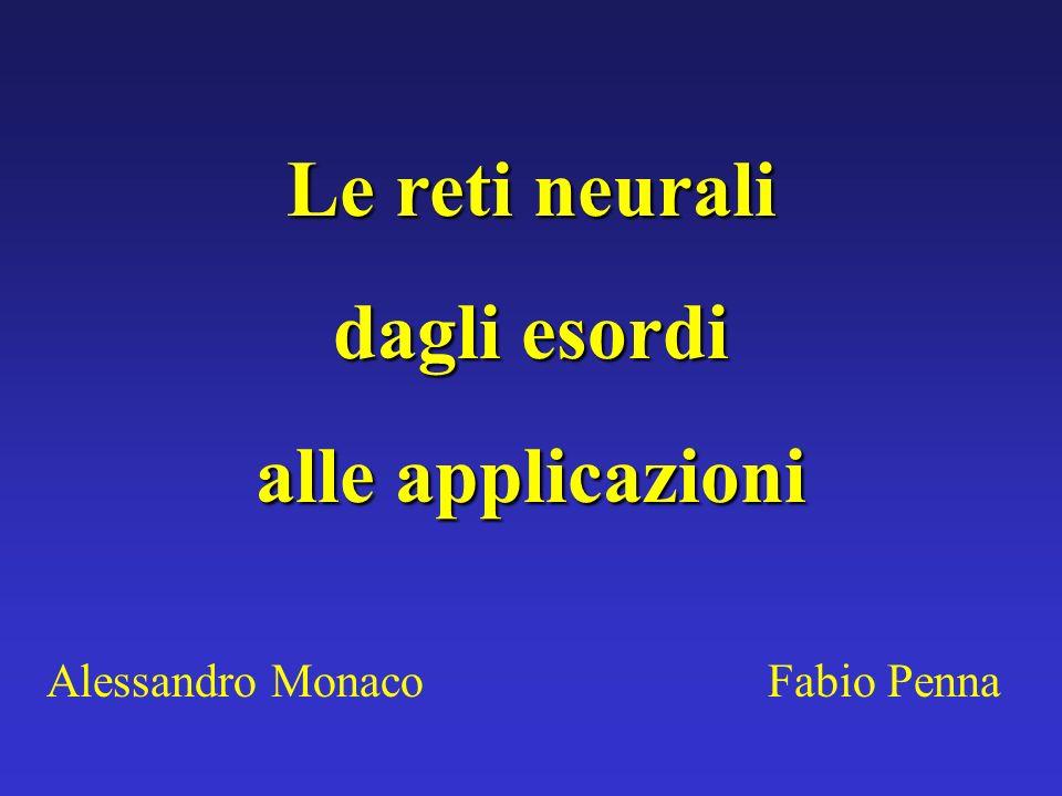 Le reti neurali dagli esordi alle applicazioni