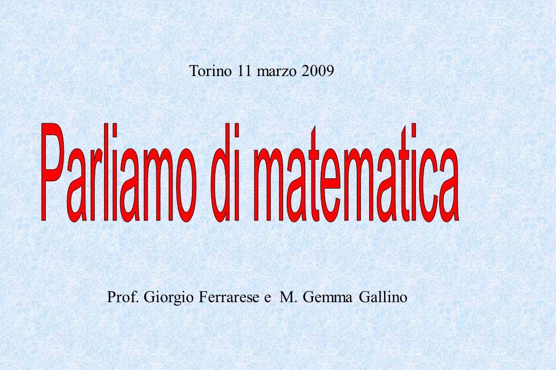 Parliamo di matematica