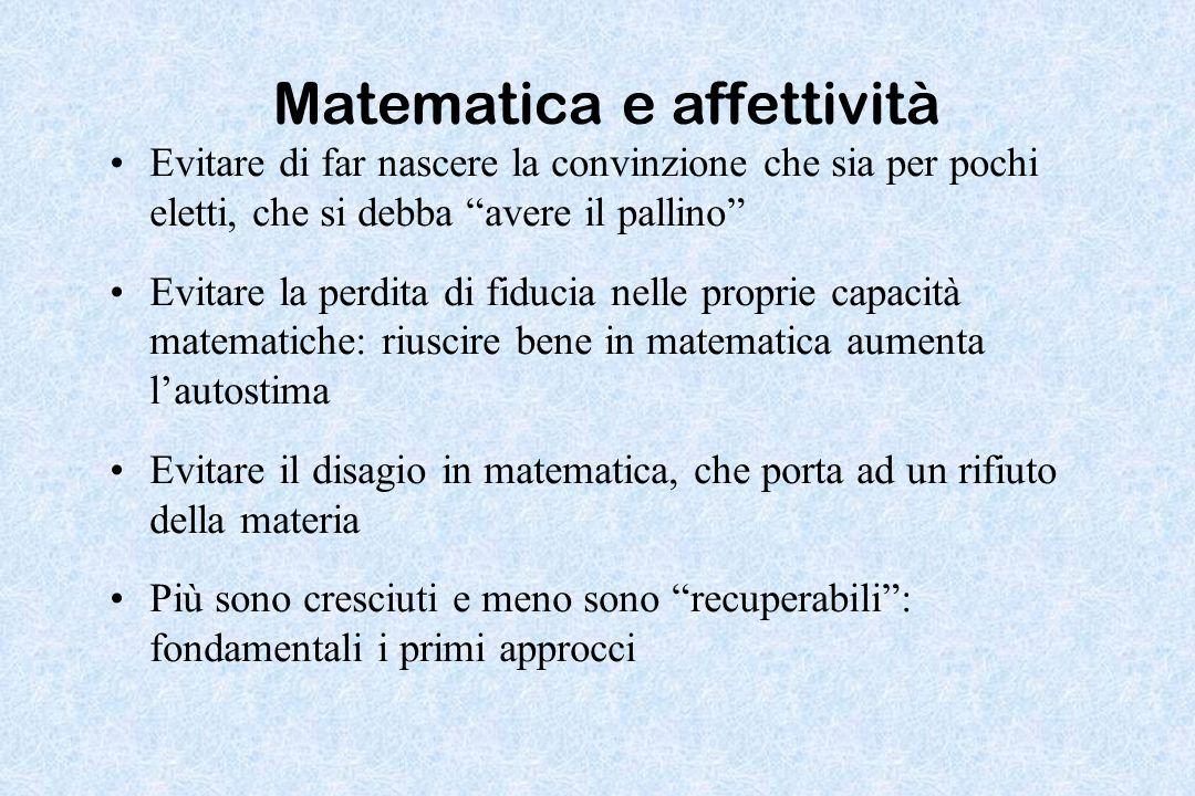 Matematica e affettività