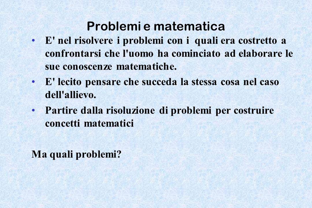 Problemi e matematica