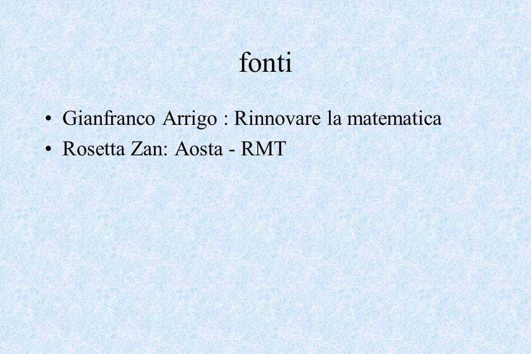 fonti Gianfranco Arrigo : Rinnovare la matematica
