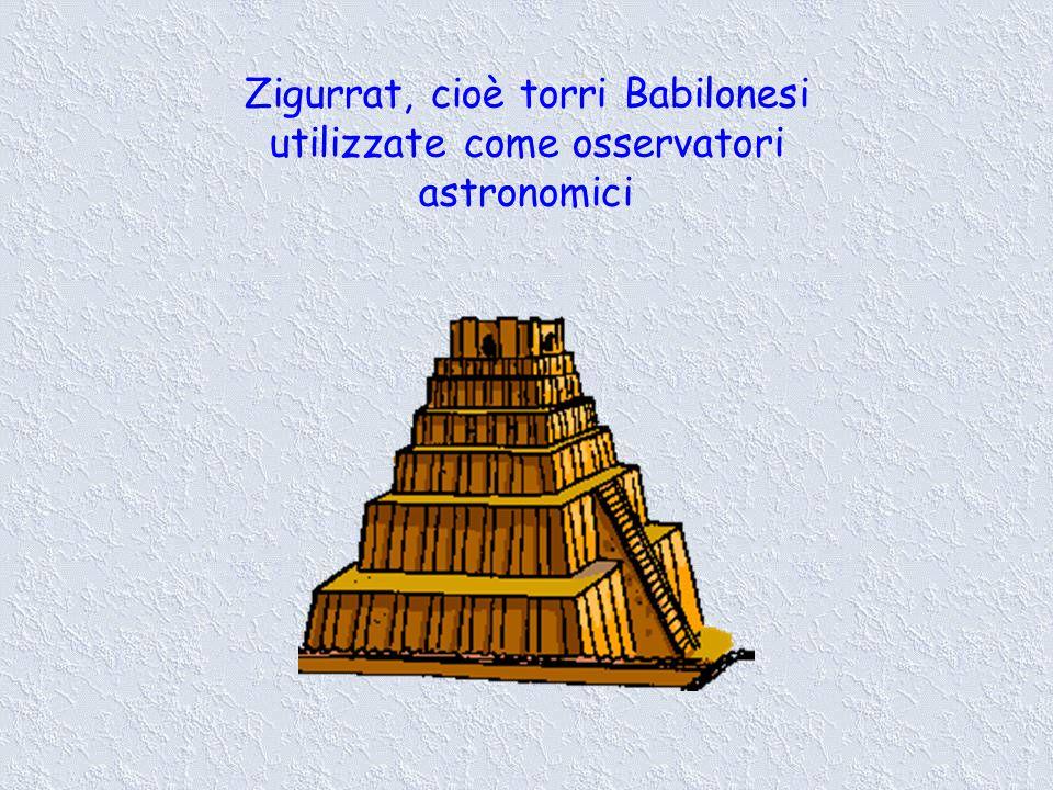 Zigurrat, cioè torri Babilonesi utilizzate come osservatori astronomici